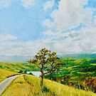 Clouds over Akaroa Harbour and Village by Dai Wynn