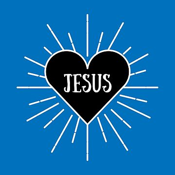 I love Jesus Heart | Blue Variant by thepinecones
