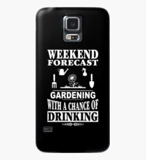 Weekend Forecast Gardening With A Chance Of Drinking T-Shirt Case/Skin for Samsung Galaxy