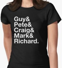 Guy&Pete&Craig&Mark&Richard. white text T-Shirt