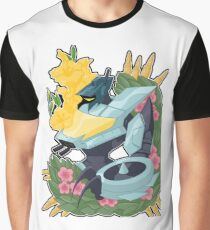 Floral Whirlybird Graphic T-Shirt