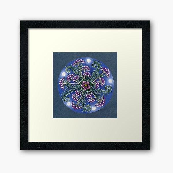 Shroomdala Framed Art Print