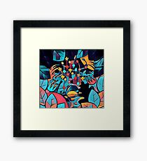 Pikmin Neon Jungle Framed Print