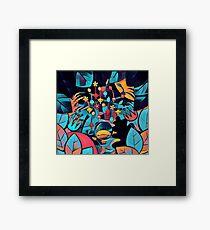 Pikmin Neon Jungle Framed Print