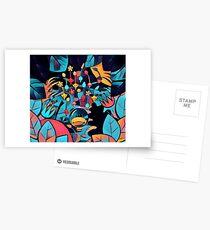 Pikmin Neon Jungle Postcards
