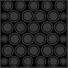 Black and Grey Circles | Mod Graphic Pattern #2 | Nadia Bonello | Canada by Nadia Bonello