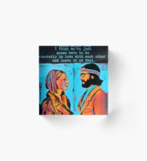 The Royal Tenenbaums Margot and Ritchie Acrylic Block