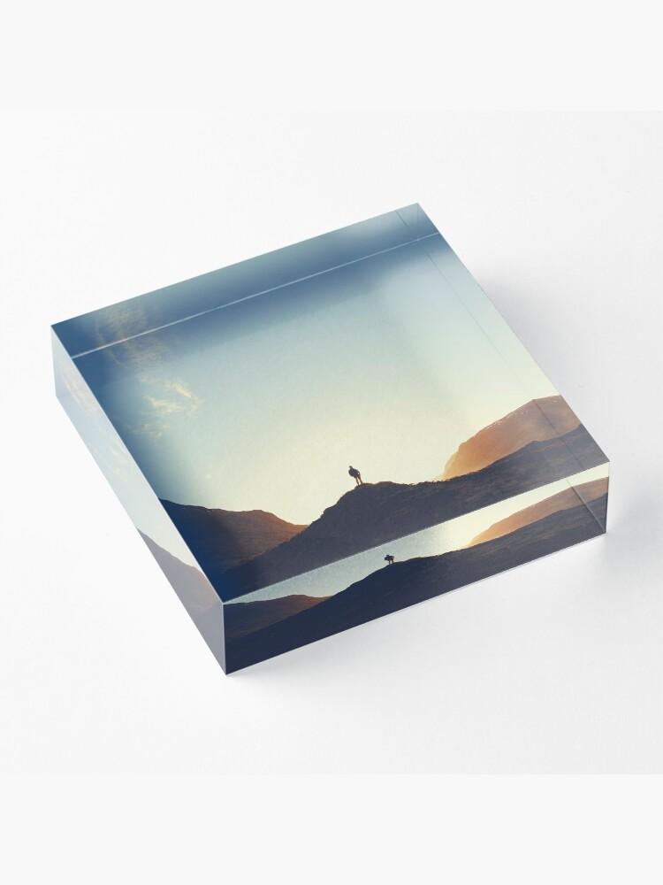 Bloc acrylique ''Lost in the Highlands': autre vue