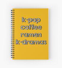 K-pop, Coffee, Ramen - Korean Dramas Spiral Notebook