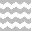 Silver and White Chevron Print by itsjensworld