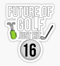 Future Of Golf Just Hit 16 For 16th Birthdays - Gift for 16 Year old Golf players Sticker