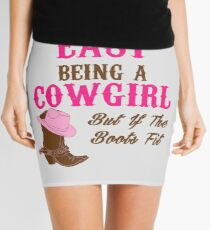 Cute Funny Western Country CowGirl T-shirt for Rodeo Lovers Mini Skirt