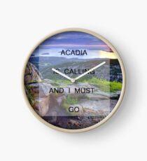 Acadia Is Calling Clock