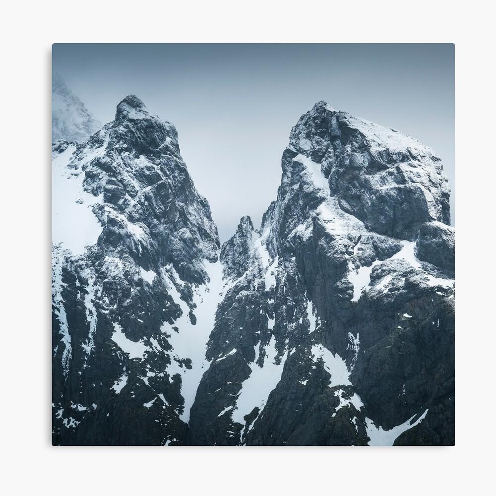 Impression sur toile «Montagnes Norvégiennes »