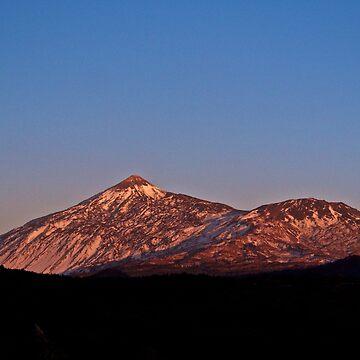 Mount Teide at Sunset, Tenerife by JCDesignsUK