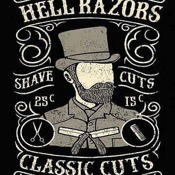Hell Razors Vintage Barbers by GarnetLeslie