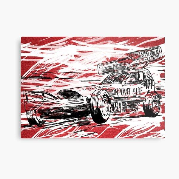Stock Car Racing Dad USA Speedway Garage Satin Chrome Plated Metal Money Clip