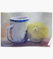 Cup and Lemon Poster