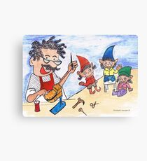 The shoemaker and the elves Metal Print
