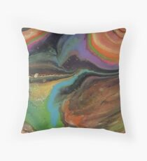 Neon Spiral Floor Pillow