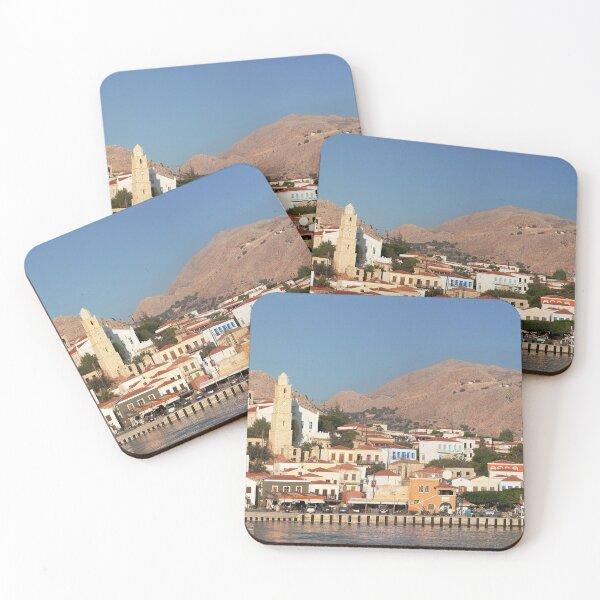 Chalki Harbour Front Coasters (Set of 4)