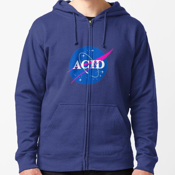 NASA LOGO ACID Zipped Hoodie