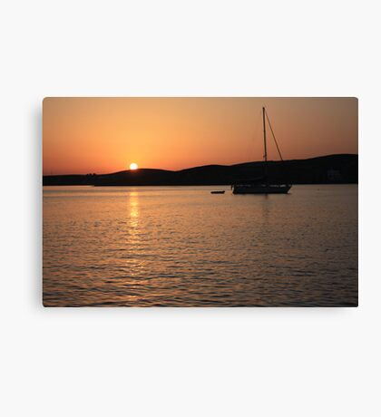 Dreamy Day's End Canvas Print