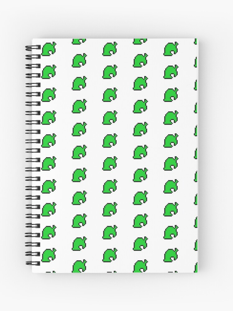 Animal Crossing Leaf Pixel Art Spiral Notebook By Gothmoth Redbubble