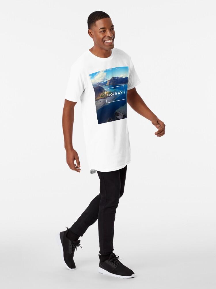 T-shirt long ''Norway': autre vue