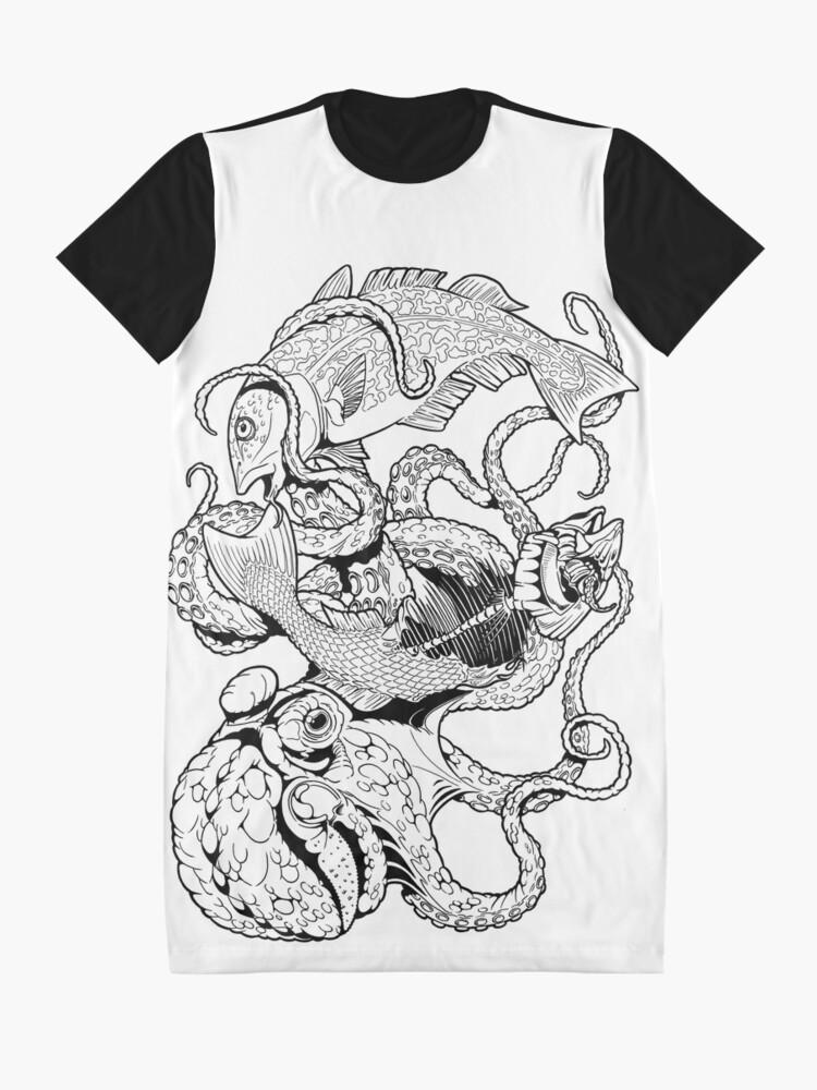 Alternative Ansicht von Pisces (black) T-Shirt Kleid