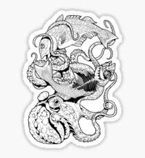 Pisces (black) Sticker