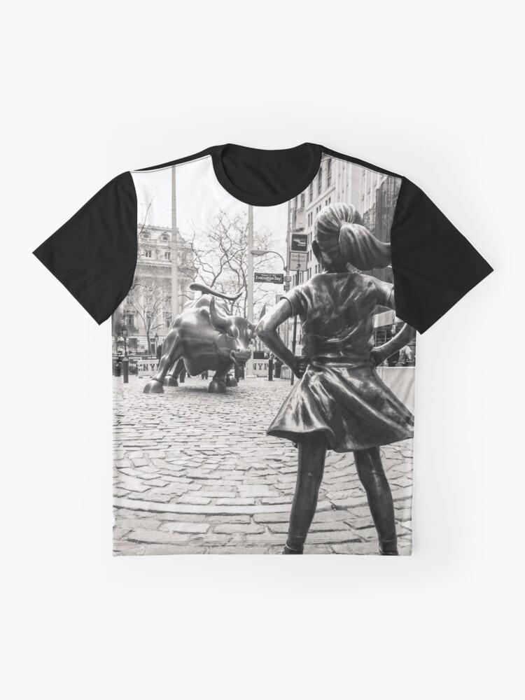 Vista alternativa de Camiseta gráfica Fearless Girl & Bull NYC