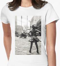 Camiseta entallada para mujer Fearless Girl & Bull NYC