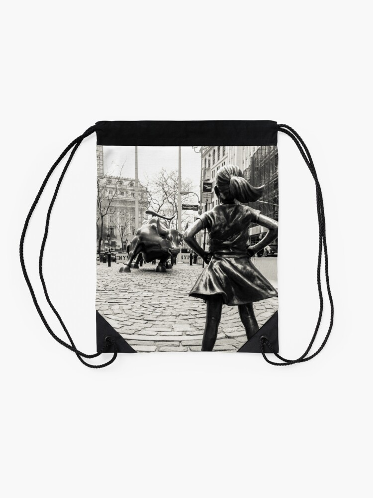 Vista alternativa de Mochila de cuerdas Fearless Girl & Bull NYC