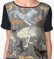 Wolves of the world 1 Chiffon Top
