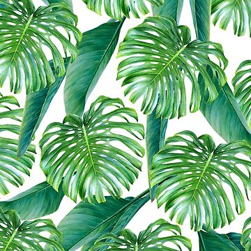 Green tropical leaves VI by CatyArte