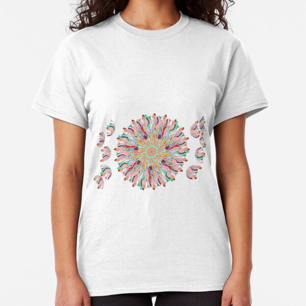 70 Organic Circle Seeds Off Like Dandal Lion at Green Bee Mee Classic T-Shirt