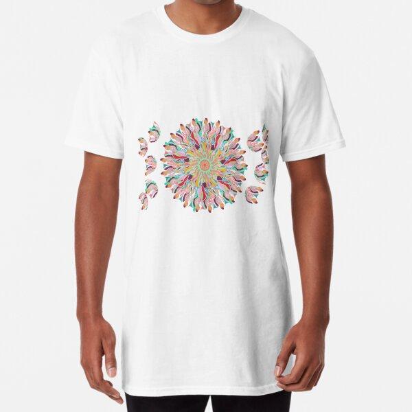 70 Organic Circle Seeds Off Like Dandal Lion at Green Bee Mee Long T-Shirt