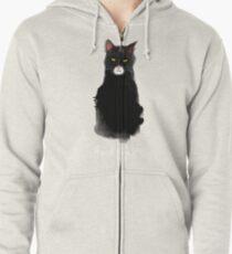 lucky cat Zipped Hoodie