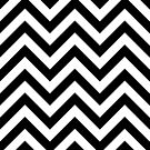 Zigzags Pattern Black & White by NataliePaskell