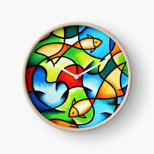 """Uhr/ Serie """"Colorful Ocean"""" - Goldfische von Ekaterina Moré / Ekaterina More Uhr"""