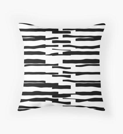 Organic No.13 Black & White Throw Pillow
