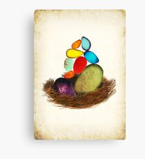 My Colorful Bird Babies Canvas Print