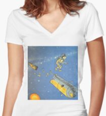 Lost in space 2 Women's Fitted V-Neck T-Shirt
