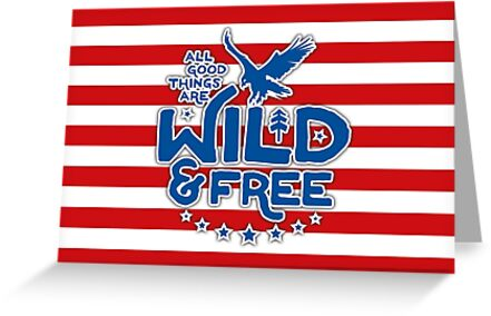 USA - Wild and Free Postcard by posay
