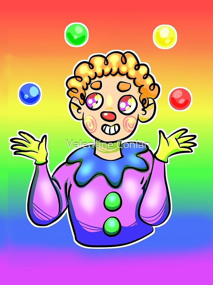 Rainbow Flag Clown by spookle-art