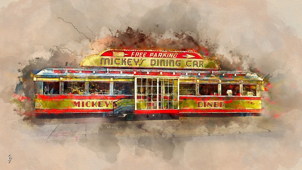 Mickey's Diner, St. Paul MN by fenraven