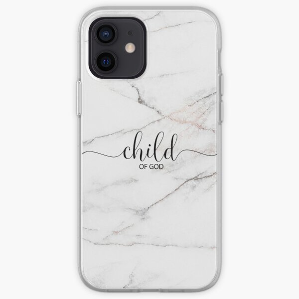 Christian Quote - Child Of God - Marble Stone iPhone Soft Case