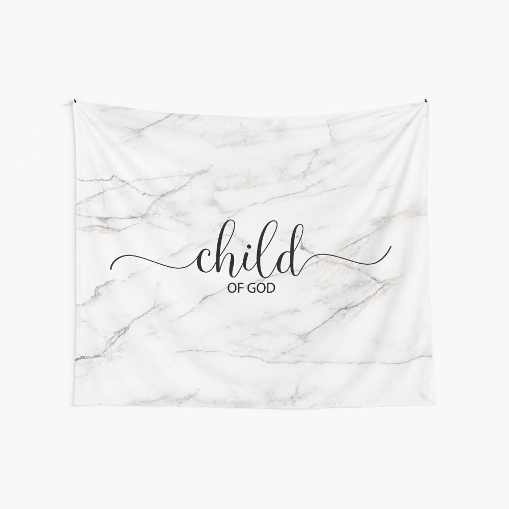 Christliches Zitat - Kind des Gottes - Marmorstein Wandbehang