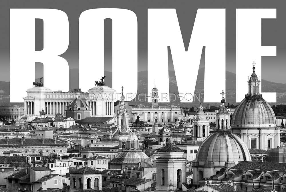 Rome Cityscape by DAVID RICHARDSON